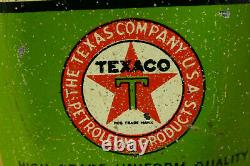 Vintage 1920s RARE Texaco Home Lubricant Oval Lead Top 4oz Handy Oiler Oil Can
