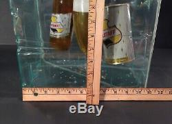 Vintage 1950s Falstaff Beer Ice Cube Advertising Sign Rare & Very Nice LOOK READ