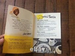 Vintage (2) ORIGINAL 1950s Aunt Jemima Recipes & Rare Disneyland Brochure