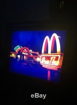 Vintage 50s McDonalds restaurant Light Picture. Rare Old Sign Collectible Cool