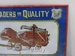 Vintage AULTMAN TAYLOR Steam Engine Thresher TIN Sign Embossed 1880's 1900s RARE