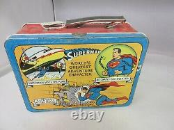 Vintage Advertising 1954 Superman Tin Lunch Box Rare Find G-210