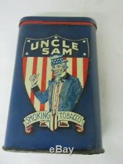 Vintage Advertising Rare Uncle Sam Vertical Pocket Tin Canada M-537