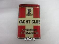 Vintage Advertising Tobacco Rare Yacht Club Vertical Pocket Tin 214-q