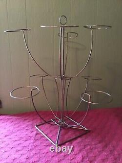 Vintage Antique Wire EIGHT 8 Hat Wig Stand Holder Display RARE AWESOME! SPINS