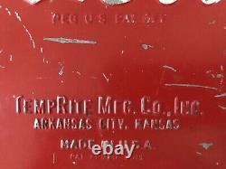 Vintage Coca Cola Coke Metal Cooler Chest With Rare Freezer Box Inside