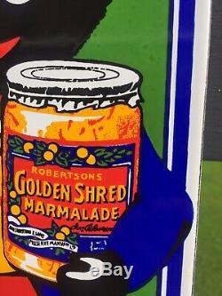 Vintage Enamel Robertsons Golden Shred Rare Iconic Kitchenalia Shop Sign Plaque