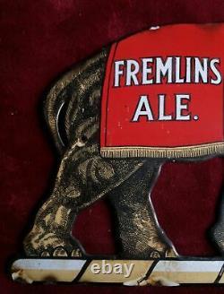 Vintage Fremlins Ale Enamel Elephant Extremely Rare & Hard To Find