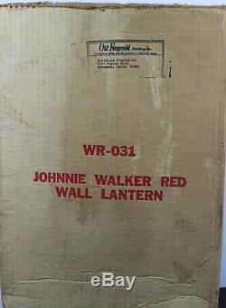 Vintage Johnnie Walker Red Wall Lantern Old Fitzgerald Distillery Very Rare 1Set