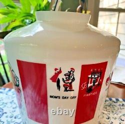 Vintage Kentucky Fried Chicken Bucket Light Glass Globe KFC Shade Retro Rare