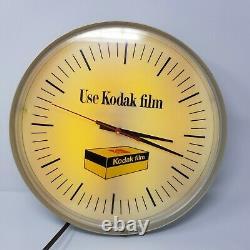 Vintage Kodak Film Advertising Display Clock Rare New Bulb New Starter