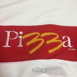 Vintage McDonalds McPizza Sweatshirt XL Uniform Fast Food Rare Embroidered Bled