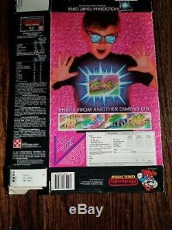 Vintage Nintendo 1989 Ralston Hologram empty cereal box NES Mario Zelda RARE