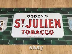 Vintage Original Ogdens St Julien Tobacco Enamel Sign Large Rare