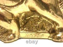 Vintage Original Rare 1960's Sinclair Dinosaur Gold Plated Still Bank Near Min
