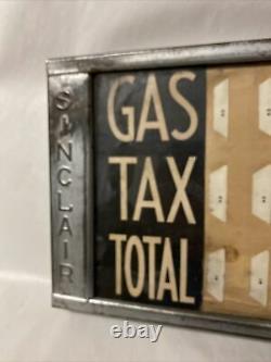 Vintage Original Rare Sinclair Gasoline Price Chart Sign Gas Pump
