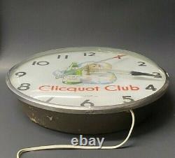 Vintage RARE 1950s Clicquot Club Soda Beverages Telechron Pam Clock WORKS