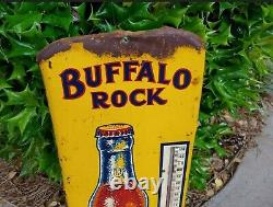 Vintage RARE Buffalo Rock Ginger Ale Soda Advertising Thermometer