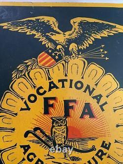 Vintage RARE Original 1920s/30s RARE Future Farmers of America Graphic Tin Sign