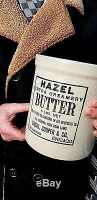 Vintage RARE Red Wing Hazel Butter Advertising Stoneware Crock Jug