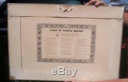 Vintage Rare 1956 Falstaff Beer Cardboard Brand Sign 30X21 Western Cowboy Texas