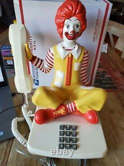 Vintage Rare 1980 Ronald McDonald Sitting Push Button Phone Telephone