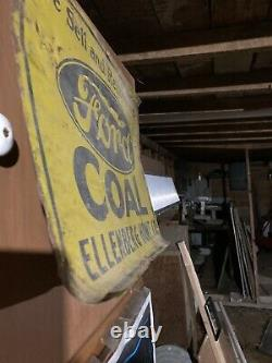 Vintage Rare Ford Coal Sign