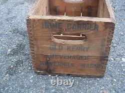 Vintage Rare Frostie Old Fashion Root Beer Crate With Bottles