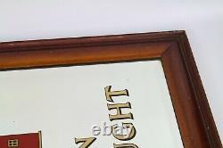 Vintage Rare Ind Coope On Draught Pub Bar Mirror 53cm x 73.5cm