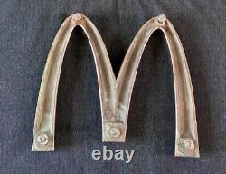 Vintage Rare Mcdonalds Solid Brass Golden Arches Sign, (not enamel)