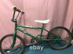 Vintage Sprite BMX Bicycle Bike 1980's Advertising Soda RARE Promo 20 Barn Find