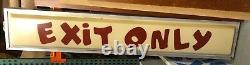 Vintage Toys R Us TRU EXIT ONLY Store Sign IN METAL HOLDER 1990s RARE 90X16