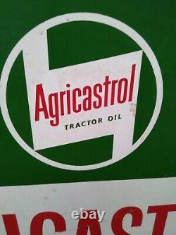 Vintage Tractor Castrol oil spinner sign Agricastrol. Very rare Tractor Oil sign