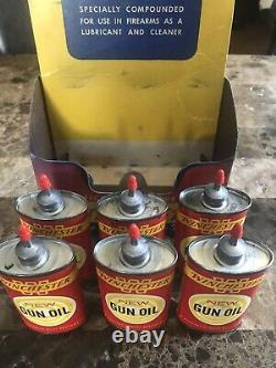 Vintage WINCHESTER GUN OIL STORE DISPLAY RARE! Tin Bottle Can With Tip Protector