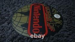 Vintage World Of Nintendo Original Nes Porcelain Metal Mario System Sign Rare Ad
