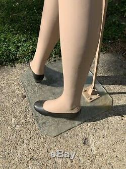 Vtg. Rare Wood 1940's Art Deco Flapper Girl Mannequin A MUST SEE